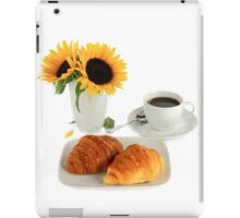 Breakfast – Croissants and Coffee. iPad Case/Skin