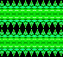 Black Diamonds on Green Sticker