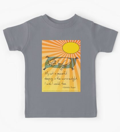 Cat Nap Haiku Kids Tee