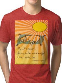 Cat Nap Haiku Tri-blend T-Shirt