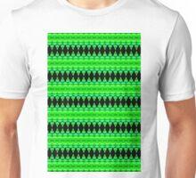 Black Diamonds on Green Unisex T-Shirt