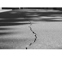 Crack in the Floor Photographic Print