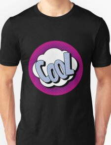 Comics Bubble with Expression Cool in Vintage Style Unisex T-Shirt