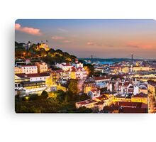 Lisbon Sunset Canvas Print