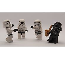 Darth entertains the troops Photographic Print