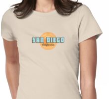 San Diego - California. Womens Fitted T-Shirt