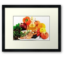 Ingredients for Cooking Chicken Salad. Framed Print