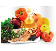 Ingredients for Cooking Chicken Salad. Poster