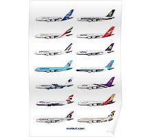 Airbus A380 Operators Illustration Poster