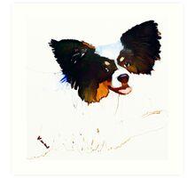 Little dog digital watercolour Art Print