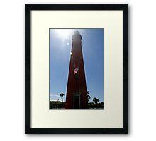 Sun Shines on Ponce de Leon Inlet Lighthouse Framed Print