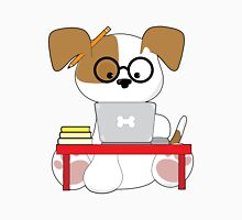 Cute Puppy and Laptop Unisex T-Shirt