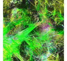 Neon Galaxy Photographic Print