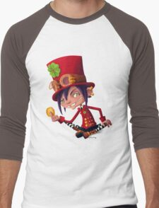 Steampunk Leprechaun Men's Baseball ¾ T-Shirt