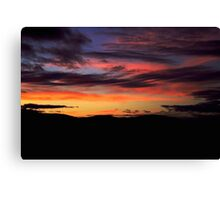A sunset in Bonanza, Oregon Canvas Print