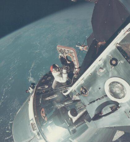 Nasa Astronaut Opening Hatch Sticker