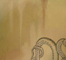 Octopus - Autumn Background Sticker
