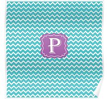 P Turquoise Poster