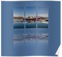 Killybegs Harbour Triptych Poster