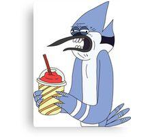 Mordecai brain freeze!! Canvas Print