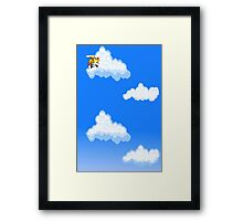 Tails in the sky Framed Print