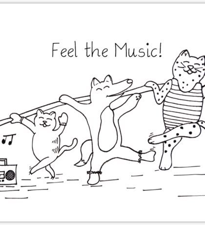 Feel the Music! Sticker