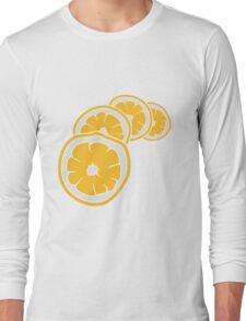 lemon cut half eat half tasty sour pattern design cool Long Sleeve T-Shirt