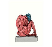 Female Nude Red I Art Print