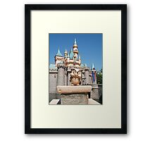 Archimedes infront of the castle Framed Print