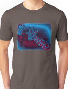 Friendly Giraffe Abstract Decor Unisex T-Shirt