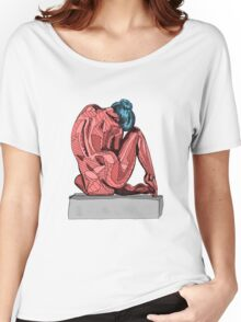 Female Nude Red I Women's Relaxed Fit T-Shirt
