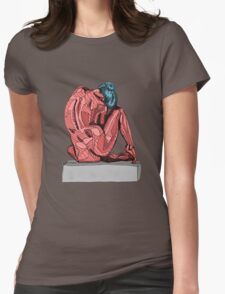 Female Nude Red I Womens Fitted T-Shirt