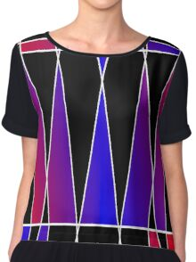 Art Deco 'Fractured' Chiffon Top