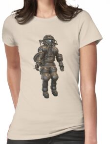 Early Deep Sea Diver Suit Womens Fitted T-Shirt
