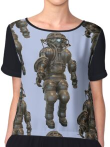 Early Deep Sea Diver Suit Chiffon Top