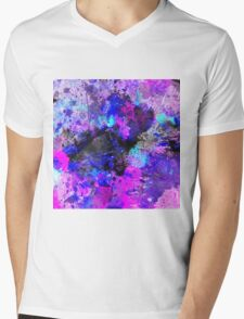 Blue Velocity Mens V-Neck T-Shirt