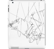 Puppet Hanging Upside Down - Line Art Only iPad Case/Skin