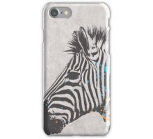 Zebra black and white iPhone Case/Skin