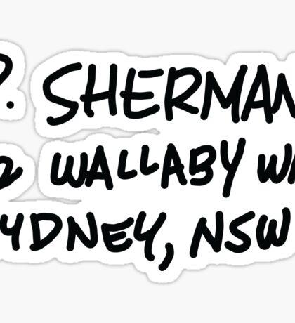 P. Sherman 42 Wallaby Way Sydney Sticker