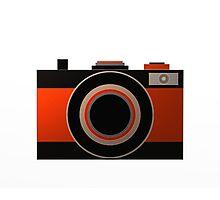 Old Camera - Metallic Geometric Art Photographic Print
