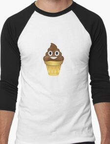 Poo emoji icecream Men's Baseball ¾ T-Shirt