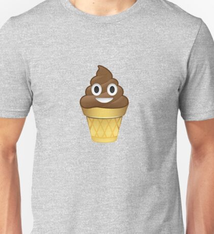 Poo emoji icecream Unisex T-Shirt