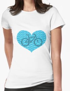 For the Love of Bikes Womens Fitted T-Shirt