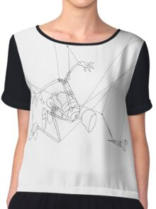 Puppet Problem Solver - Line Art Only Chiffon Top