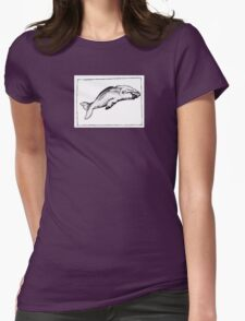 Graphic Sperm Whale Womens Fitted T-Shirt