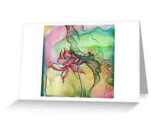 """Rainbow Dance"" from the series ""In the Lotus Land"" Greeting Card"