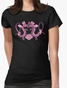 Breast Cancer Survivor Dragon Womens Fitted T-Shirt