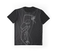 Puppet Freedom - White Line Art Only Graphic T-Shirt