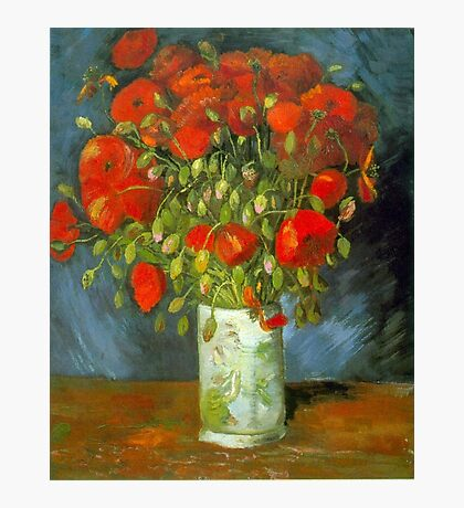 'Red Poppies' by Vincent Van Gogh (Reproduction) Photographic Print