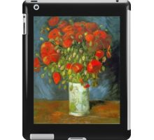 'Red Poppies' by Vincent Van Gogh (Reproduction) iPad Case/Skin